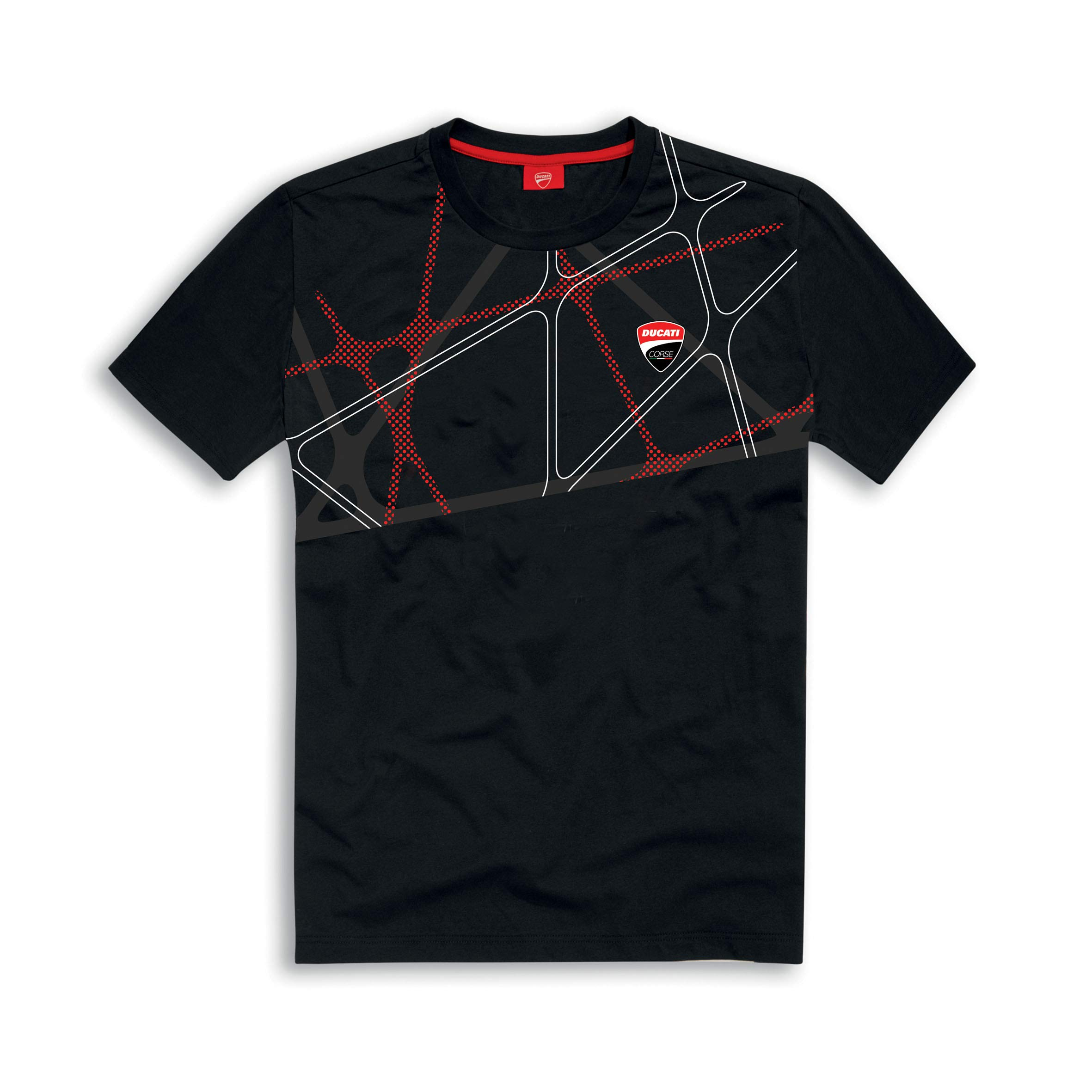 Ducati Corse DC 19 Graphic Net Short Sleeved T-Shirt (2XL, Black) by Ducati