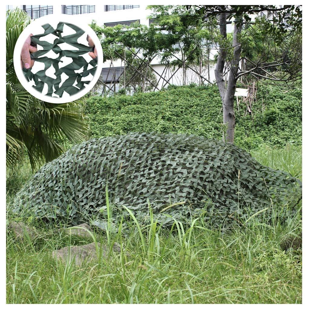 48M(13.126.2ft) ZHhome Filet De Camouflage De Jardin De 2 × 3m, Tente De Filet D'ombre Verte, Utilisé pour La Prise De Vue en Extérieur De Couverture De Voiture De Chasse en Plein Air Dissimulée par L'armée