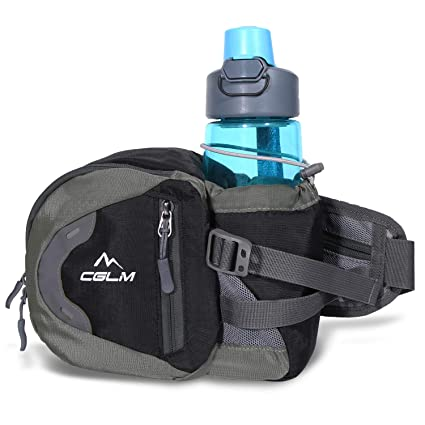 5dc5d7414c0d CGLM Hiking Fanny Pack with Water Bottle Holder Waist Bag Running Waist  Pack Lumbar Pack Waterproof for Outdoor Travel Cycling Climbing Walking for  ...