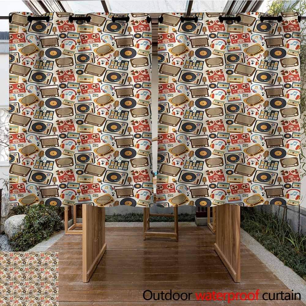 Sunnyhome Cortina para Puerta corredera, Vintage, con Guantes nostálgicos, Cortinas para Sala de Estar: Amazon.es: Jardín