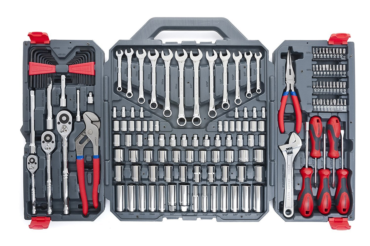 Crescent CTK170CMP2 Mechanics Tool Set, 170-Piece (Pack of 5.)