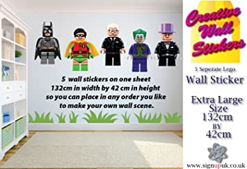 Lego Wall Sticker Batman Theme Kids Bedroom  Separate Stickers - Make your own decals uk