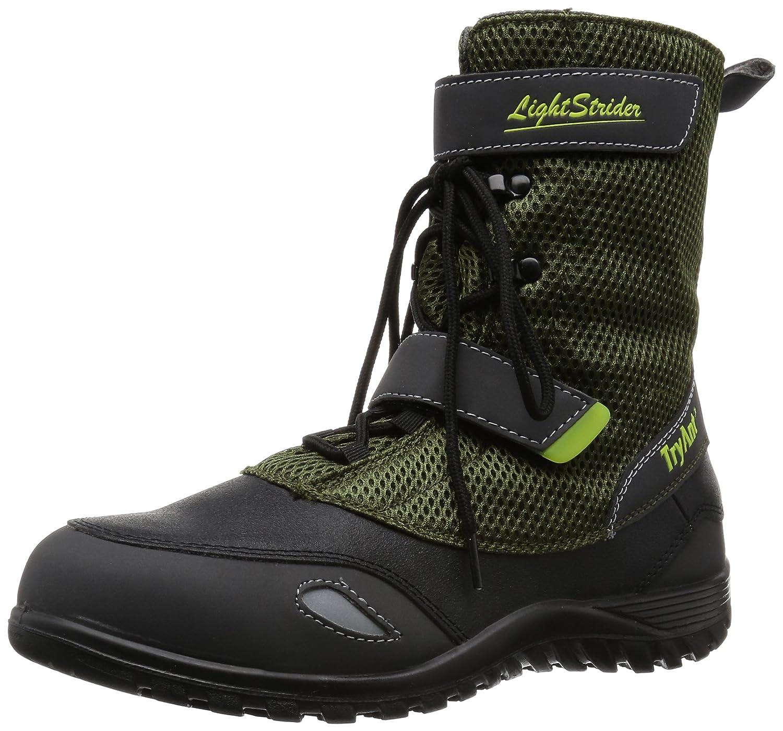 [トライアント] TRY ANT 安全靴 作業靴 ライトストライダー L-25 高所作業 通気性 メッシュ B01D2XZIQW ダークグリーン 26.5 cm