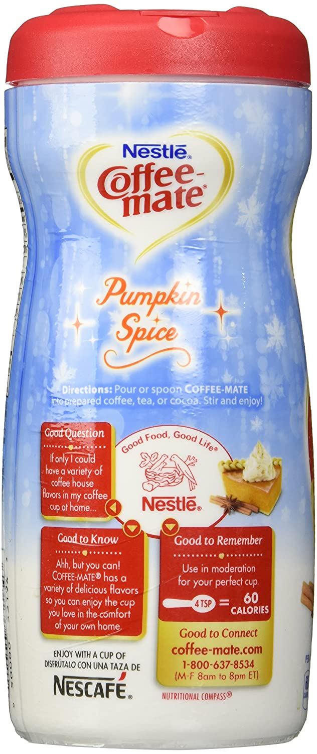 Nestle Coffee Mate Pumpkin Spice Powdered Non-Dairy Creamer, 15 oz (Pack of 2): Amazon.com: Grocery & Gourmet Food