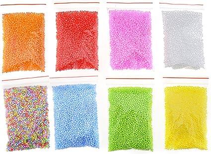 Childs DIY Gift Polystyrene Styrofoam Foam Beads Assorted Balls Crafts