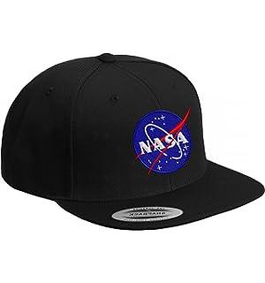 5d908b85ae377 Mister Tee NASA Snapback Unisex Cap In Black For Men And Women Logo ...