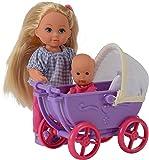 Simba 105736241 - Evi Love Puppe mit Minipüppchen und Puppenwagen, 2-sort.