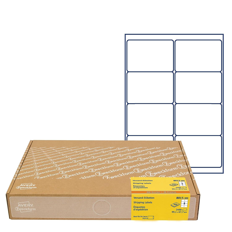 avery zweckform 8015 versandetiketten 99 1 x 67 7 mm 2400