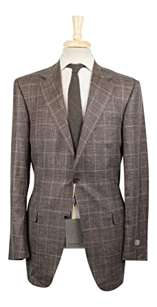 dc5ada021c Canali 1934 Brown Glen Plaid Wool 2 Button Sport Coat Size 54/44 ...