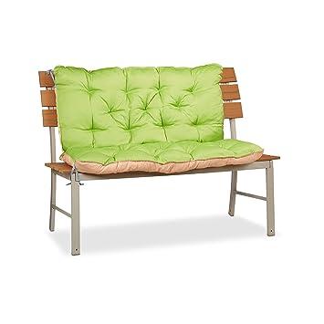 Amazon.de: Relaxdays Bankauflage Garten, Sitzkissen & Rückenpolster ...