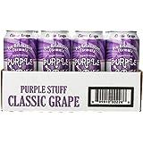Purple Stuff Soda Purple Stuff Pro Relaxation Beverage, Classic Grape, 16 Ounce (Pack of 12)