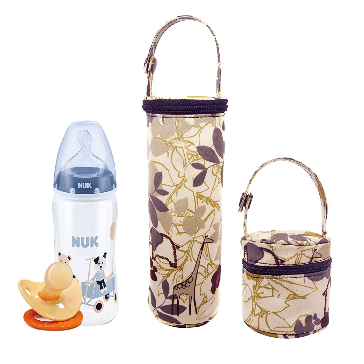 Bellotte Insulated Baby Bottle Bag&Pacifier Pouch (2 Pack) - Travel Carrier, Holder,Tote,Portable Breastmilk Storage Ltd
