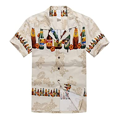 27ed1c2c9 Palm Wave Men's Hawaiian Shirt Aloha Shirt at Amazon Men's Clothing ...