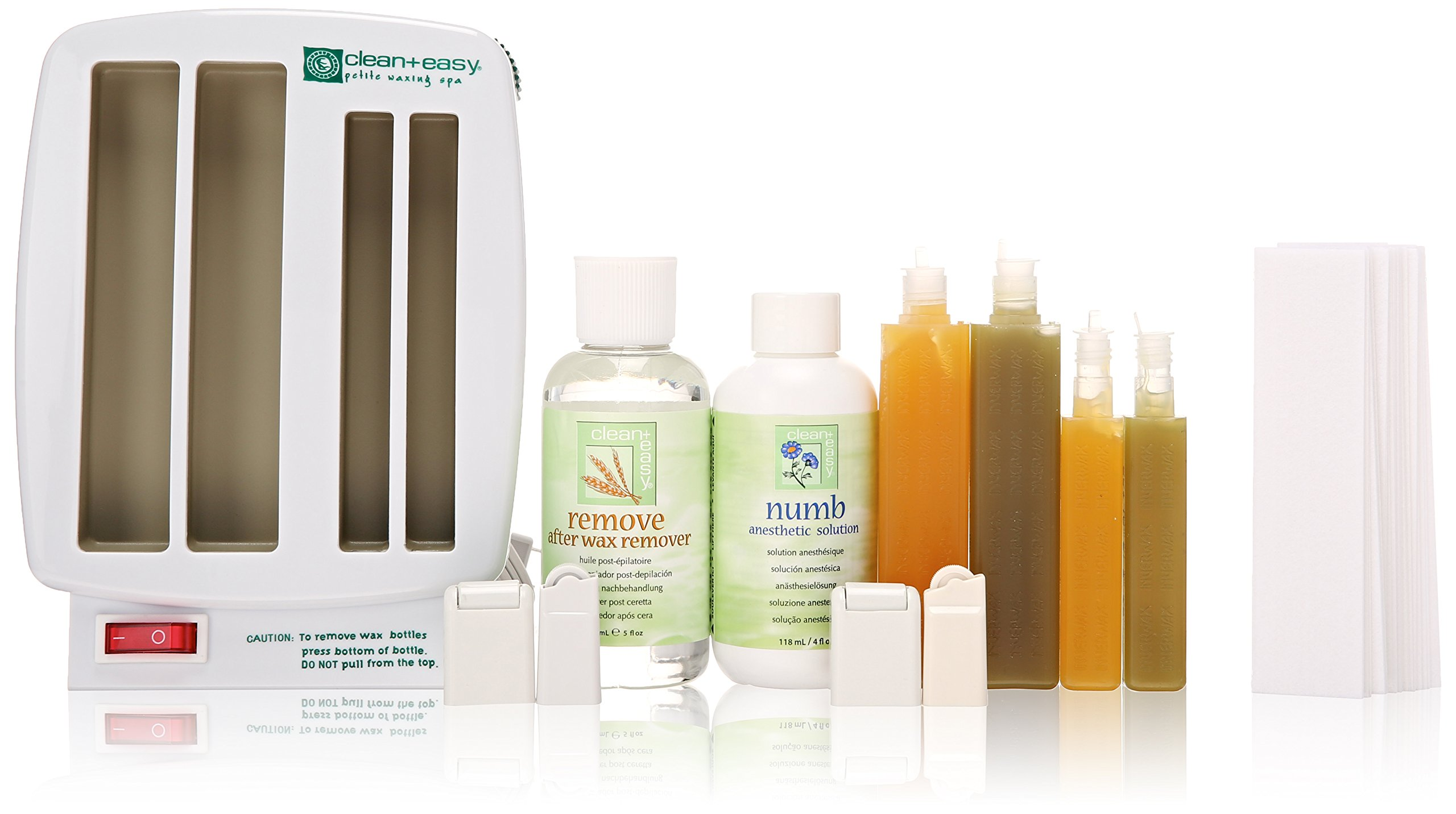 Clean + Easy Professional Waxing Spa Petite Kit, 11 Count