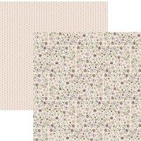 Kit Folhas para Scrapbook DF Coleções Nuances de Jardim Rosas e Folhagens, Toke e Crie SDF761, Multicor, Pacote de 12