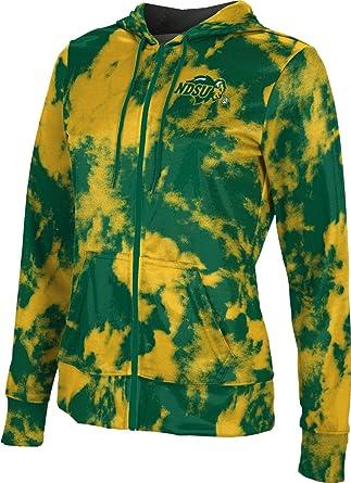 North Dakota State University Girls Zipper Hoodie Grunge School Spirit Sweatshirt