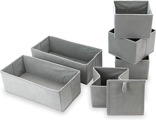 Organizadores de cajones | Cajas de almacenamiento de tela ...