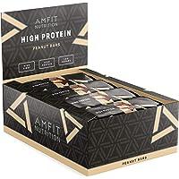 Amazon-Marke: Amfit Nutrition Protein-Riegel mit Erdnüssen  12er Pack (12 x 60g)