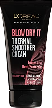 L'Oreal Paris Hair Care Advanced Hairstyle Blow Dry It Thermal Smoother Cream\, 5.1 Fluid Ounce