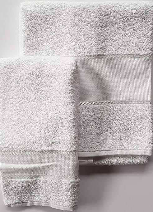 M&O Set esponjas Baño Viso + Invitados 100% Esponja con Inserto de Tela Aida para