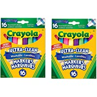 Crayola 16 Washable Broad Line Markers, Colossal, 2 Pack