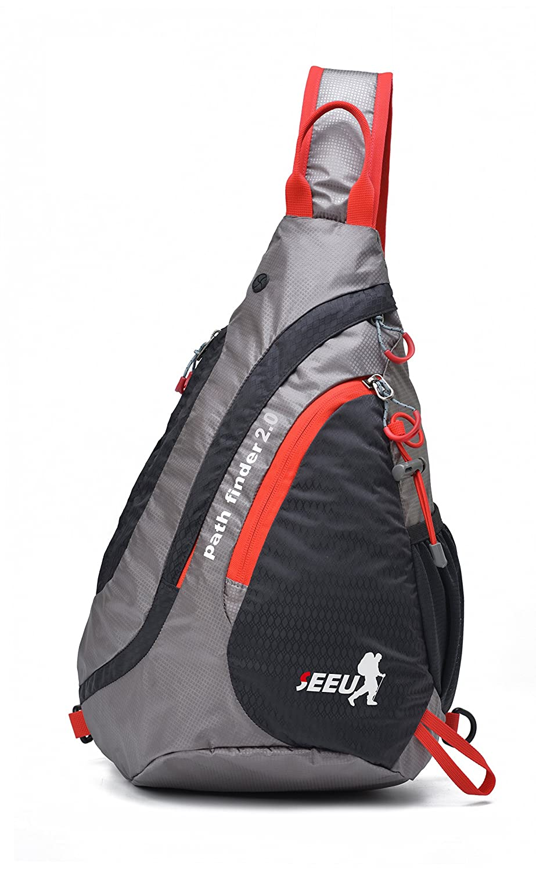 c3fd9ef6fa Amazon.com  SEEU Sling Bag Backpack