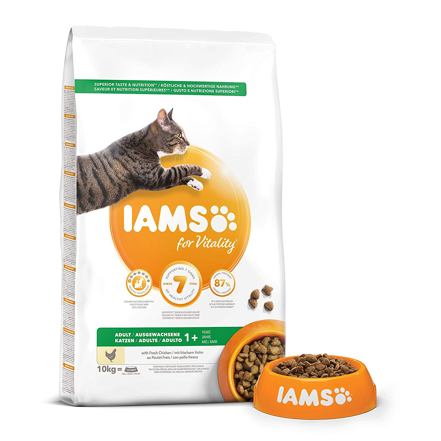 IAMS Proactive Health Adult Rich In Chicken Comida para Gatos - 10000 gr: Amazon.es: Productos para mascotas