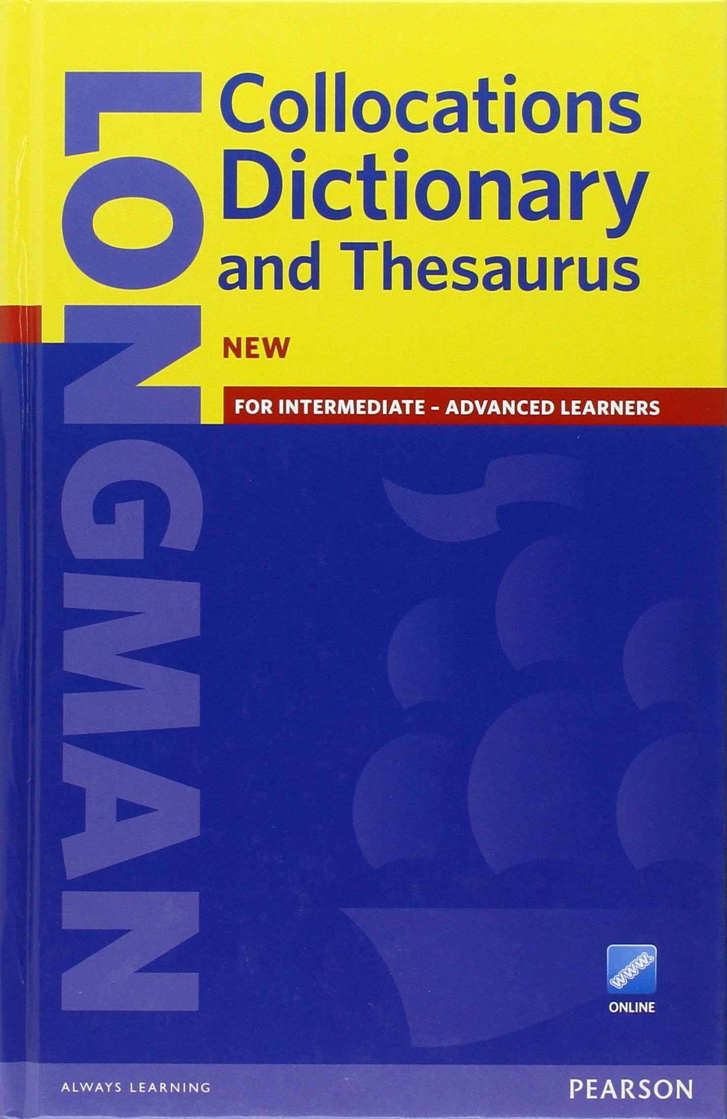 Longman Collocations Dictionary and Thesaurus with online access code cased