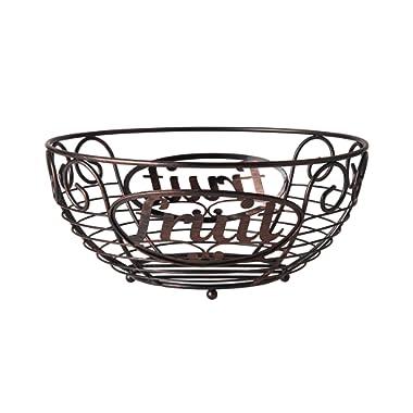 Pfaltzgraff Basics 5227654 Chit Chat Carbon Steel Bread Basket, 11-Inch, Antique Black