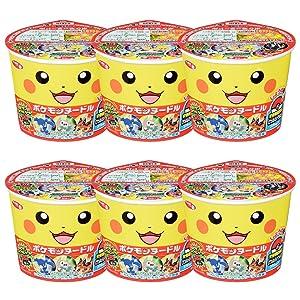 Pokemon Noodle Soy sauce Taste 1.3oz 6pcs Set Japaneese Instant Noodle Pikachu Sanyo Ninjapo