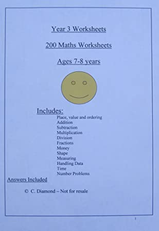 200 Year 3 Maths Worksheets Ks2 Pdf File To Print Out Amazon