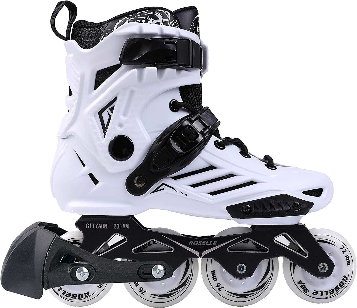you-beat-you-land大人用Inline Skates for Man and Woman LS ホワイト 44:man10,lady10.5
