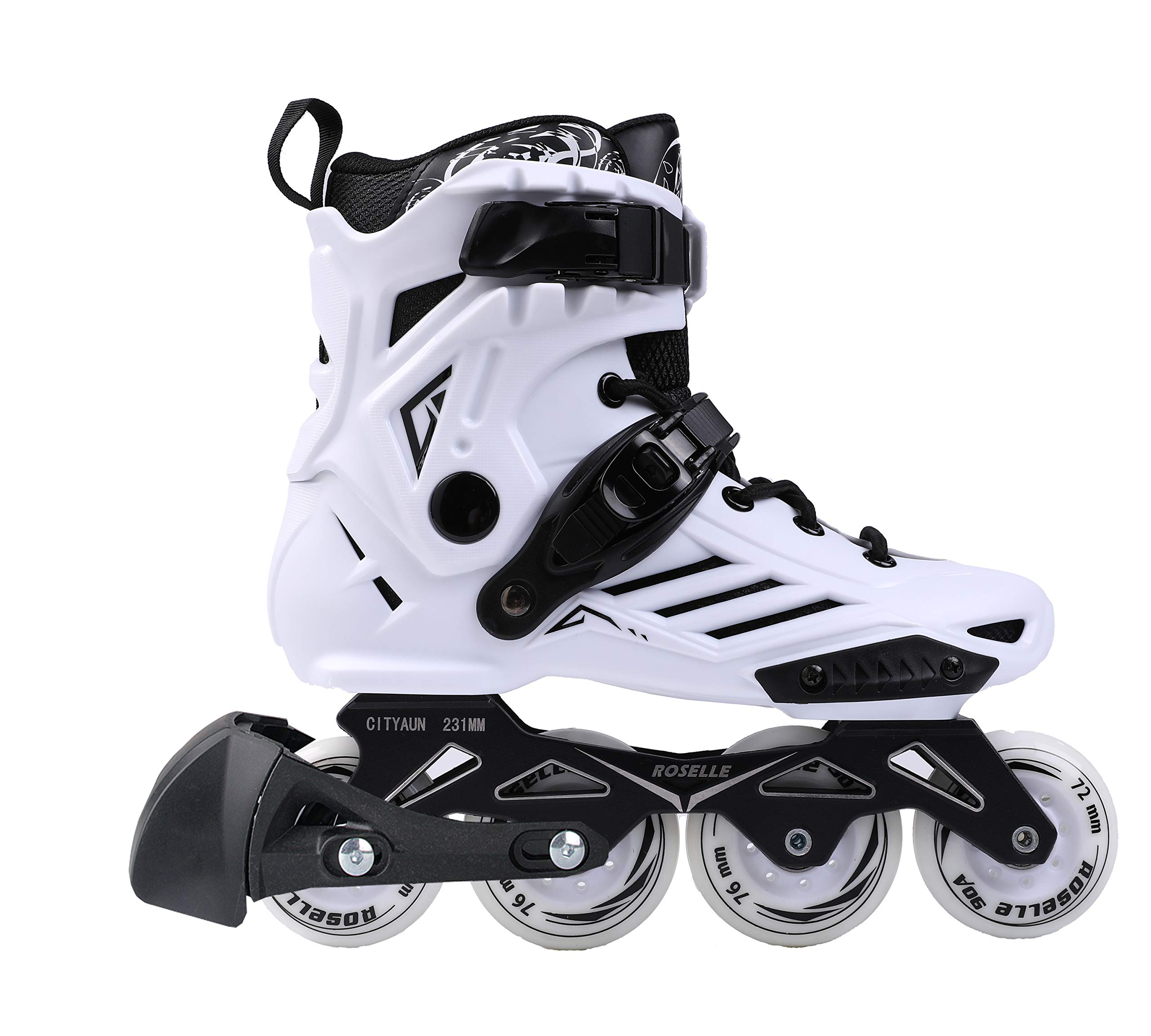 you-beat-you-land Adult Inline Skates for Man and Woman LS White