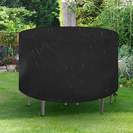 Waterproof Garden Patio Furniture Cover Rectangular Round Outdoor Table Cover