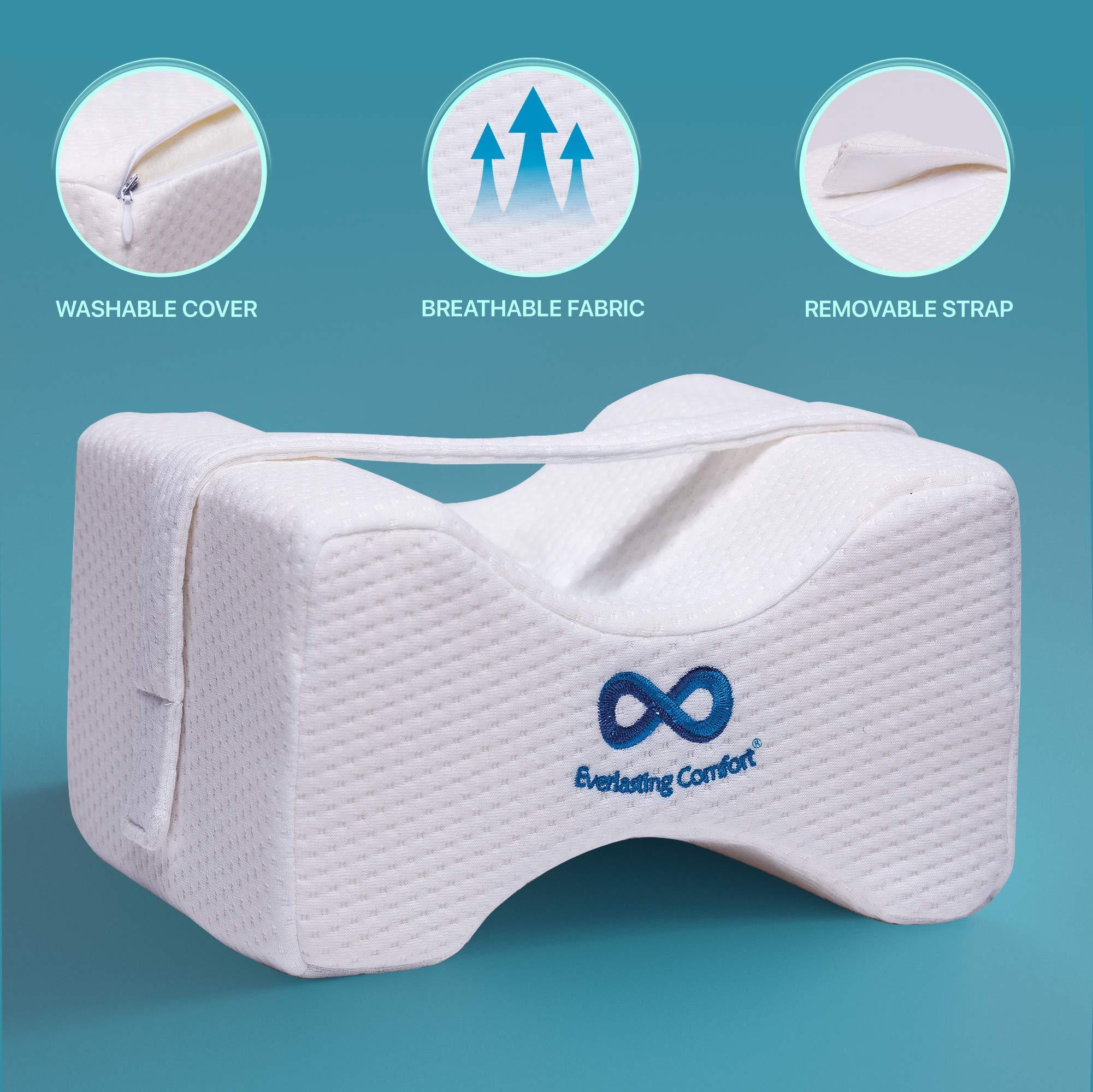 Everlasting Comfort 100 Pure Memory Foam Knee Pillow With