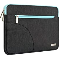 MOSISO Laptop Sleeve Bag Compatible with 13-13.3 Inch MacBook Pro, MacBook Air, Ultrabook Netbook Tablet, Polyester Protective Carrying Case Cover, Black