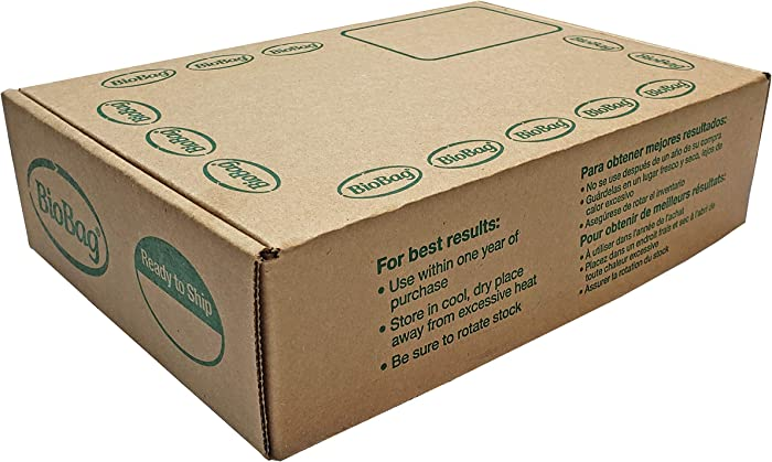 BioBag, The Original Compostable Bag, Kitchen Food Scrap Bags, ASTMD6400 Certified 100% Compostable Bags, Biodegradable Products Institute & VINCOTTE OK Home Certified, Non GMO, 3 Gallon, 100Count