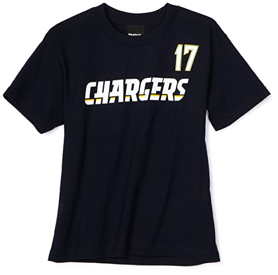 43088b5132d NFL Boys' San Diego Chargers Phillip Rivers 8-20 Name & Number Tee Shirt