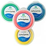 Therapy Putty for Hand & Finger Exercises, Rehabilitation and Flexibility - Set of 4 x 3 oz, Color Coded, Variable Resistance - Stress Relief & Occupational Therapy - myTherapyPutty by dohpLife