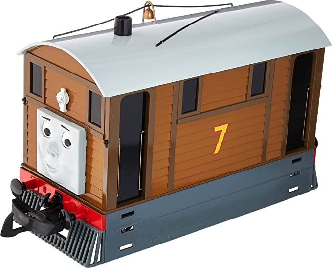 Amazon Com Bachmann Trains Thomas Friends Toby The Tram Engine With Moving Eyes Large G Scale Toys Games