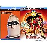 Incredibles Blu Ray & Incredibles 2 Blu Ray Bundle + Digital Codes