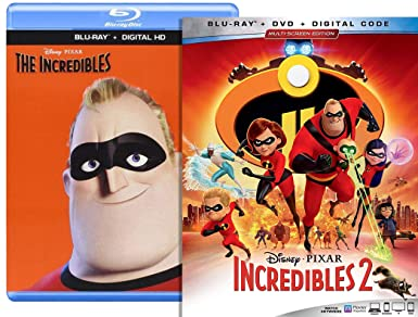 Amazon com: Incredibles Blu Ray & Incredibles 2 Blu Ray Bundle +