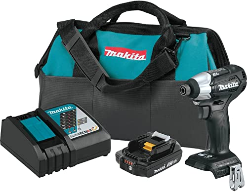 Makita XDT15R1B 18V LXT Lithium-Ion Sub-Compact Brushless Cordless Impact Driver Kit 2.0Ah