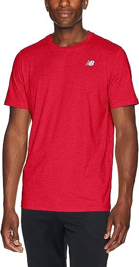 t-shirt new balance sport homme rouge