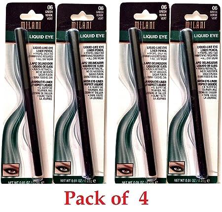 Milani Liquid Eye Liquid-Like Eye Liner- 06 Green Pack of 4