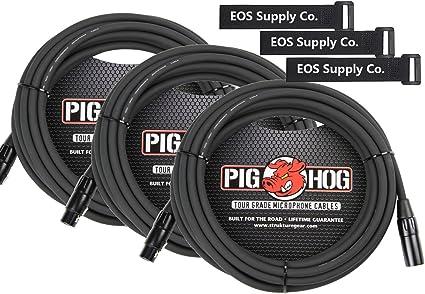 Pig Hog 100 Foot XLR to XLR Mic Cable