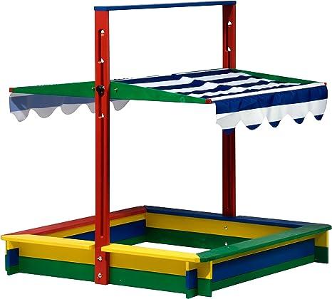 dobar Caja de Arena de Madera con Techo: Amazon.es: Juguetes y juegos