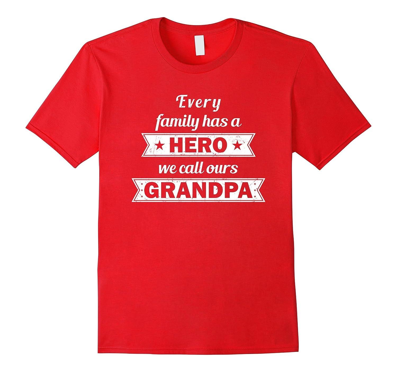 Happy Fathers Day Gifts Hero We Call Best Grandpa TShirts-Vaci