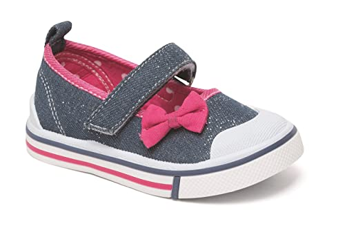 Koo-T® - Zapatillas de Lona para niñas con diseño de Bomba de Verano, Color Azul y Rosa: Amazon.es: Zapatos y complementos