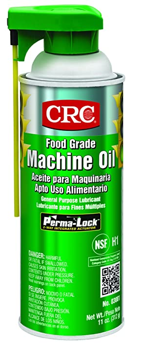 CRC 03081 General Purpose Food Grade Machine Oil Spray, (Net Weight: 11 oz.) 16oz Aerosol